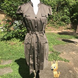 Button Up Shirt Dress Cap Sleeve Size 12